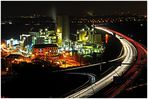 Heidelberger-Zementwerke in Mainz bei Nacht II