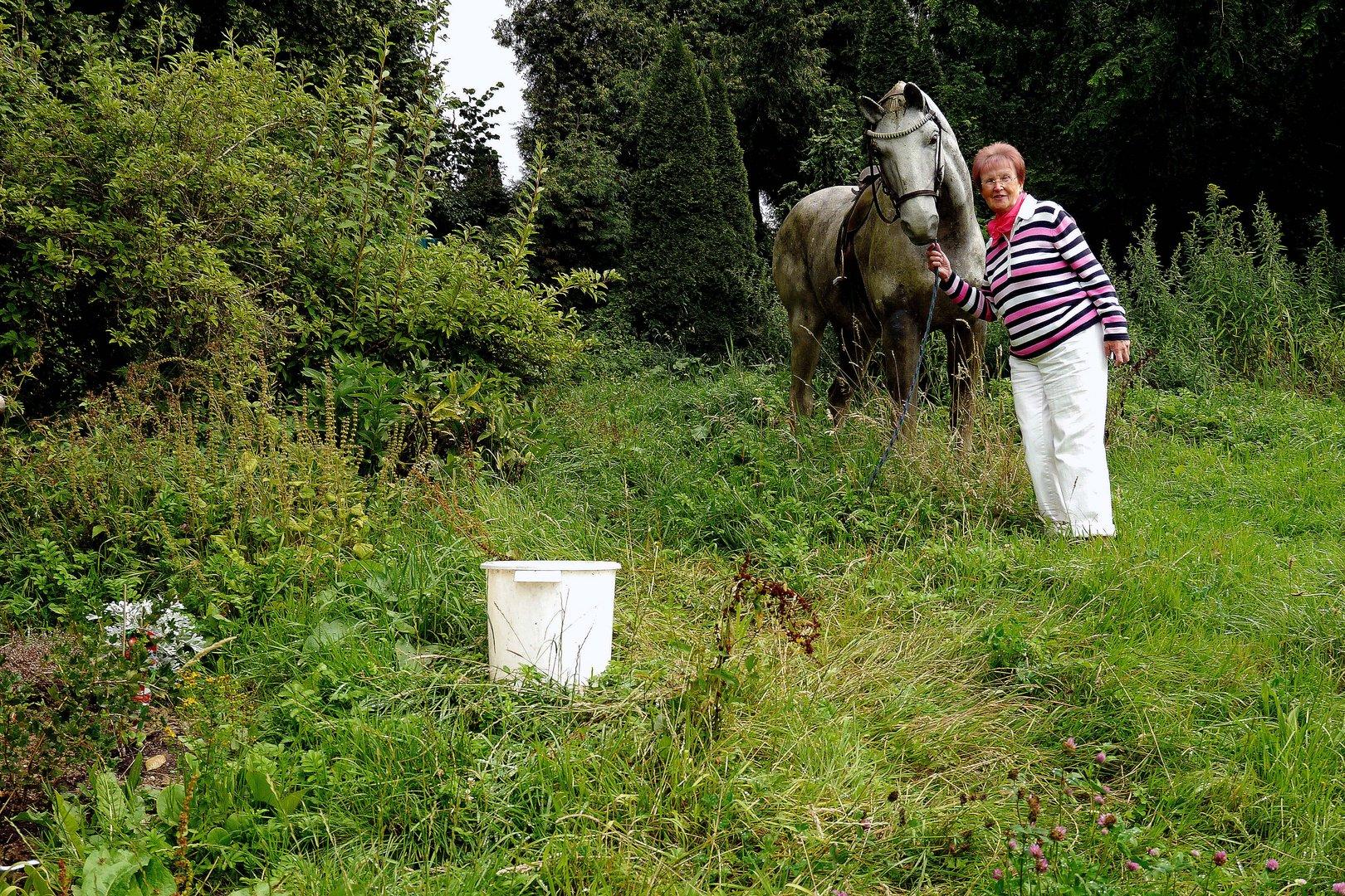 Heidemarie im Pferderausch.