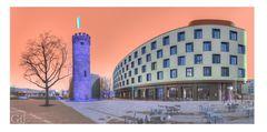 Heilbronn. Alt & Neu. Bollwerksturm und Mercure Hotel 2
