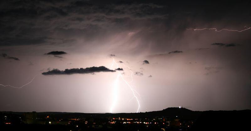 Heilbronn Blitz-Gewitter
