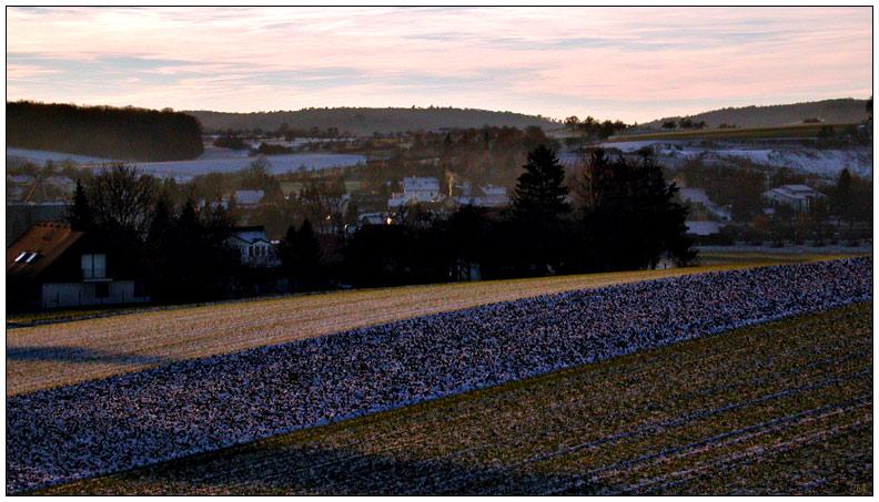 Heiligabend 2003: Dorf in Hohenlohe