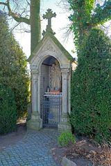 Heiligenstock/Bilderstock/Marterl im südlichen Münsterland, gezeigt wird St. Jupp.