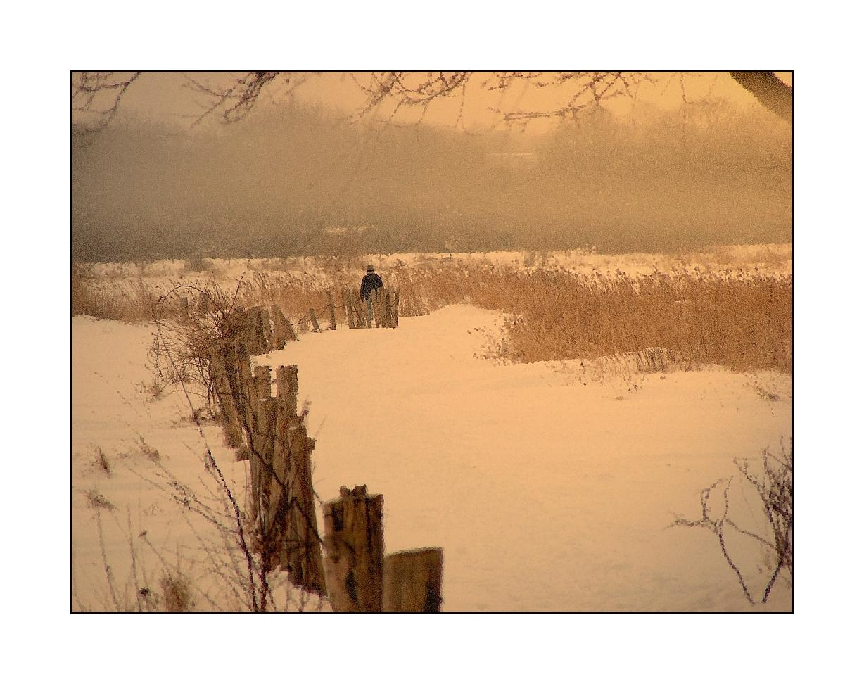 Heimweg im Schnee