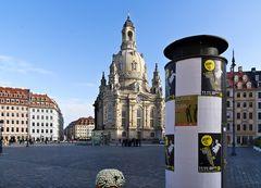 Heinrich Schütz Residenz - Blick zur Frauenkirche