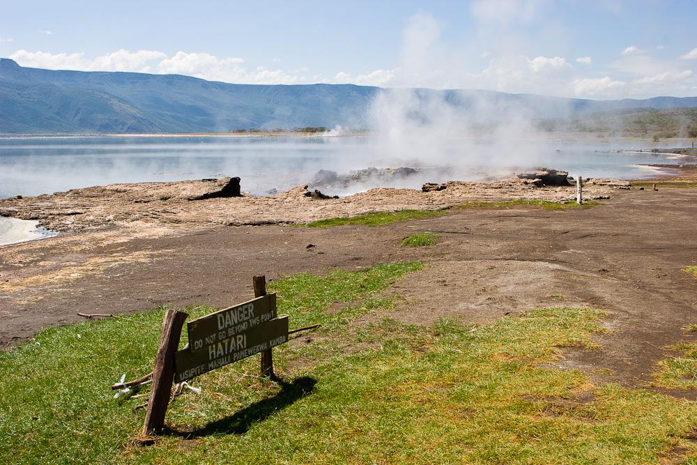 Heiße Quellen am Lake Bogoria