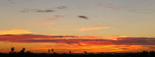 heißer Sonnenuntergang