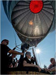Heissluftballon kurz vor dem Start