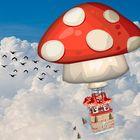 Heissluftfliegenpilz-Über den Wolken