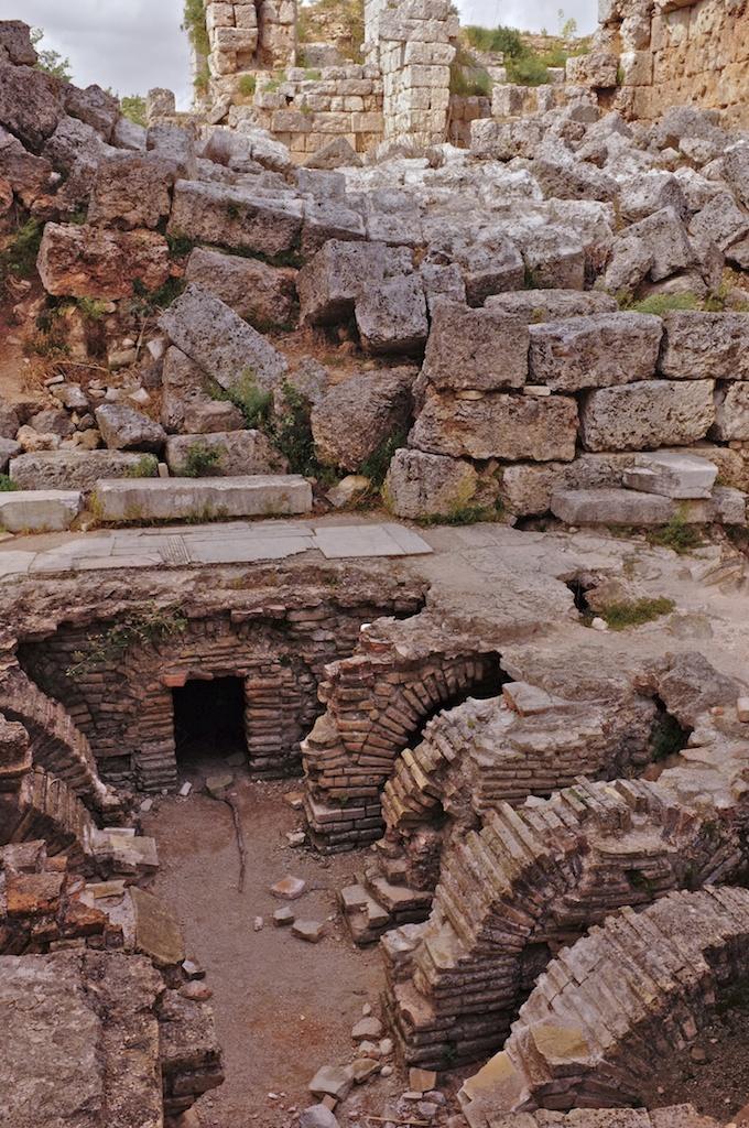 ... Heizungsraum .. eines römischen Bades