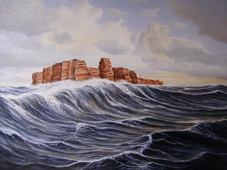 Helgoland bei schwerer See