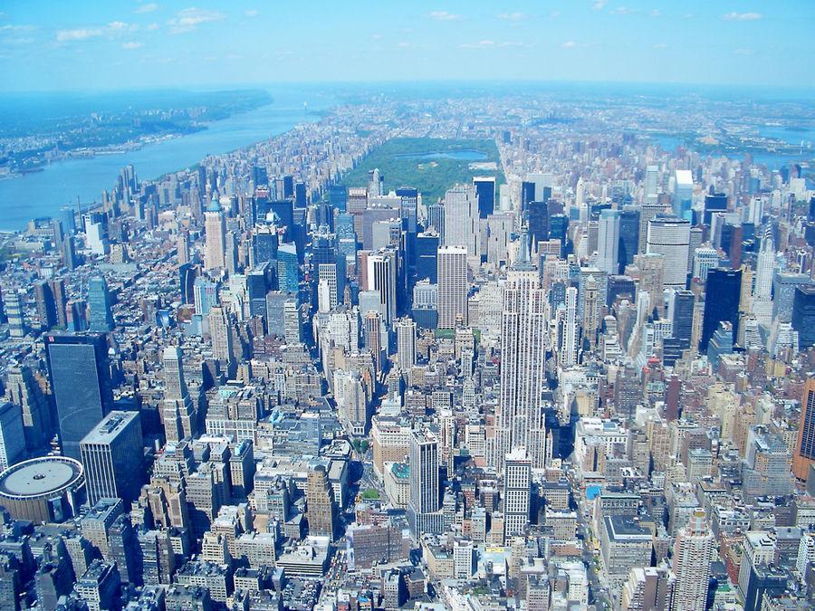 Heli-Perspektive New York - Manhatten