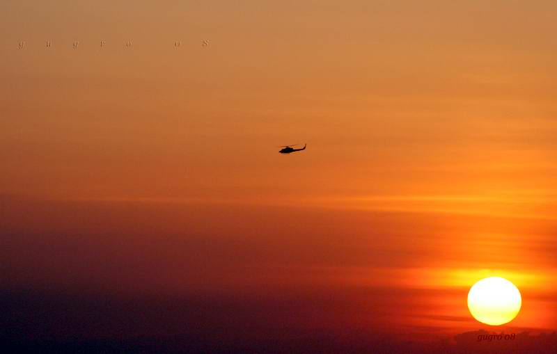 helicopter and...sun