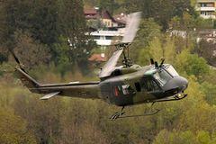 Helikopter des Deutschen Bundesherr im Anflug