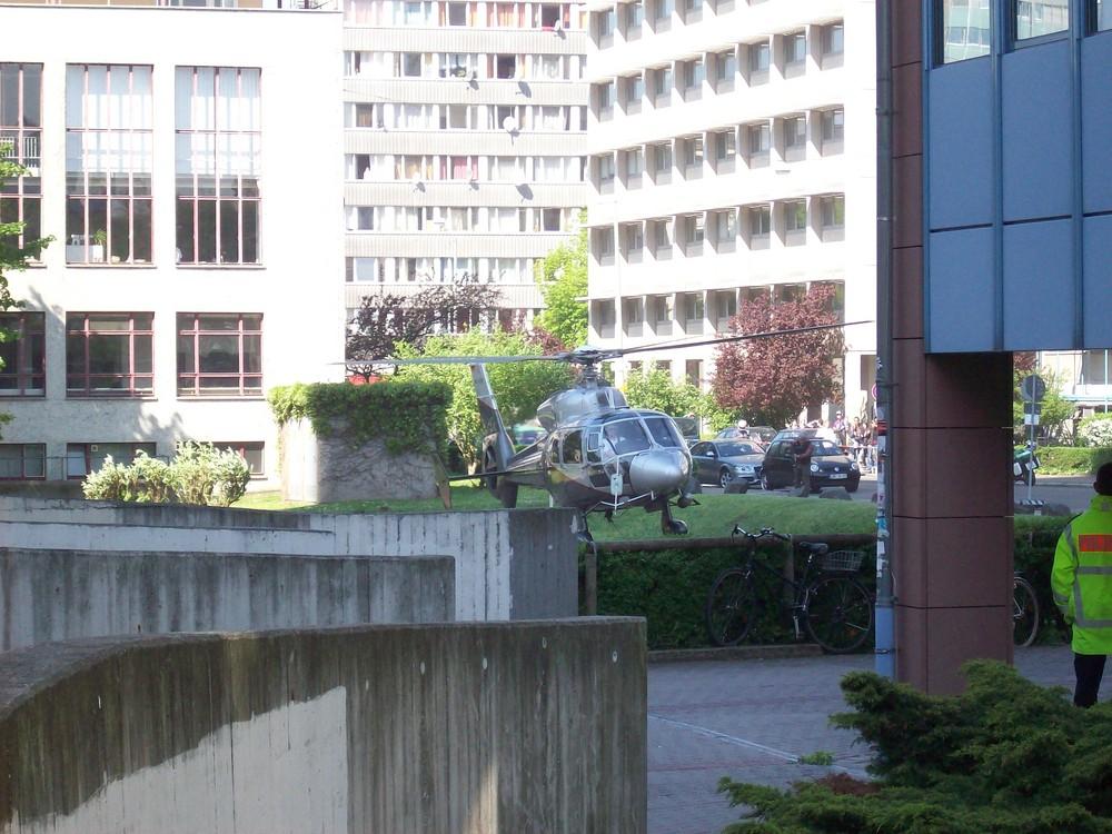 Helikopter über Frankfurt