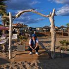 Hello les amis, un p'tit coucou de Manouchette à la plage de Valras dans l'Hérault