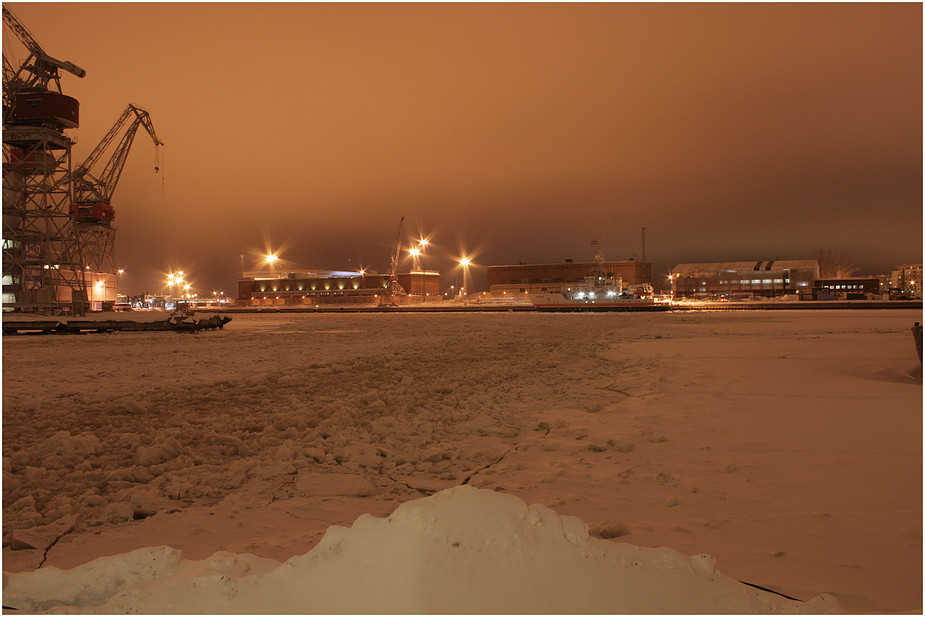 Helsinki ~ icebreaker in frozen harbour