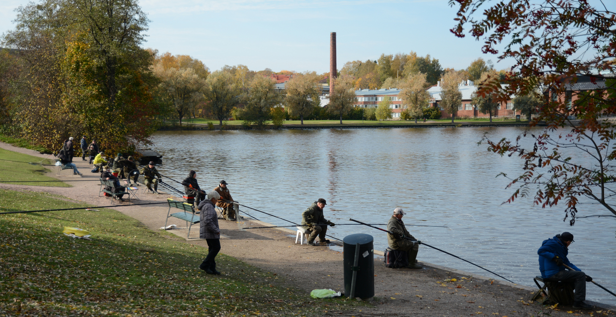 Helsinki, the fishermen on coast