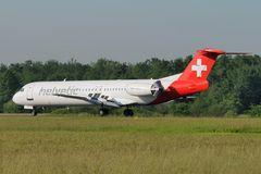 Helvetic Airways Fokker 100 HB-JVC