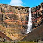 Hengifoss - der gestreifte Wasserfall bei Egilsstaðir im Osten Islands