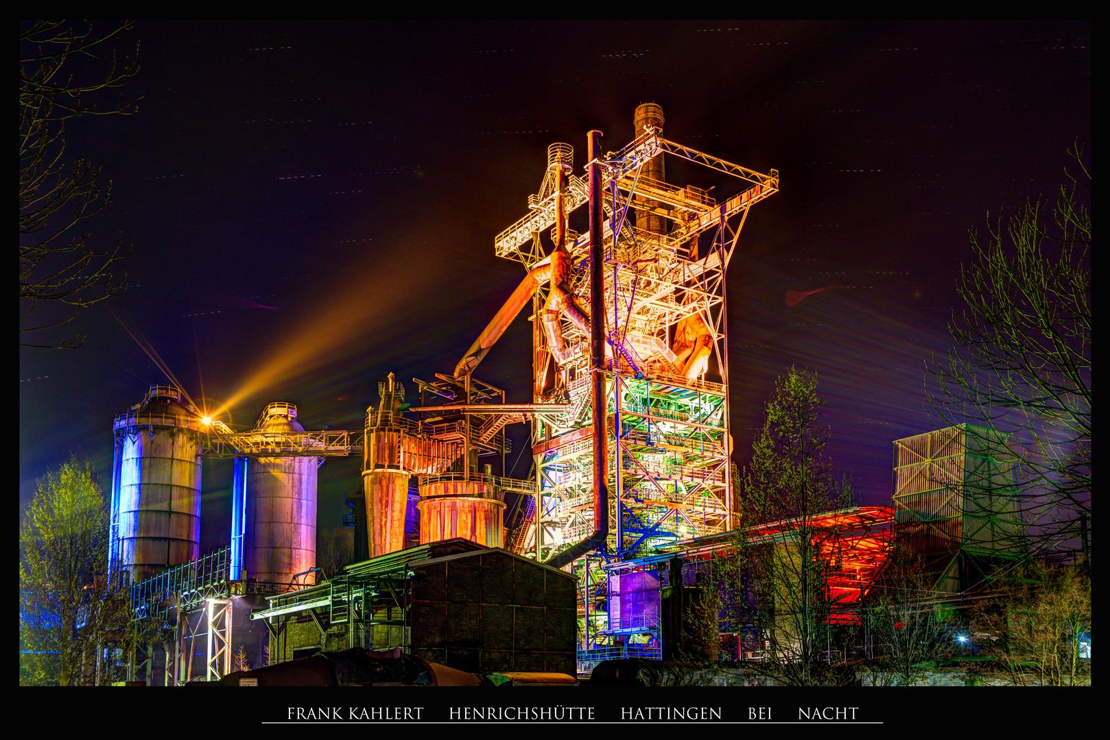 Henrichshütte bei Nacht