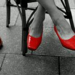 Her new red shoes