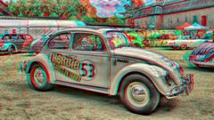 Herbie groß in Fahrt (3D - HDR)