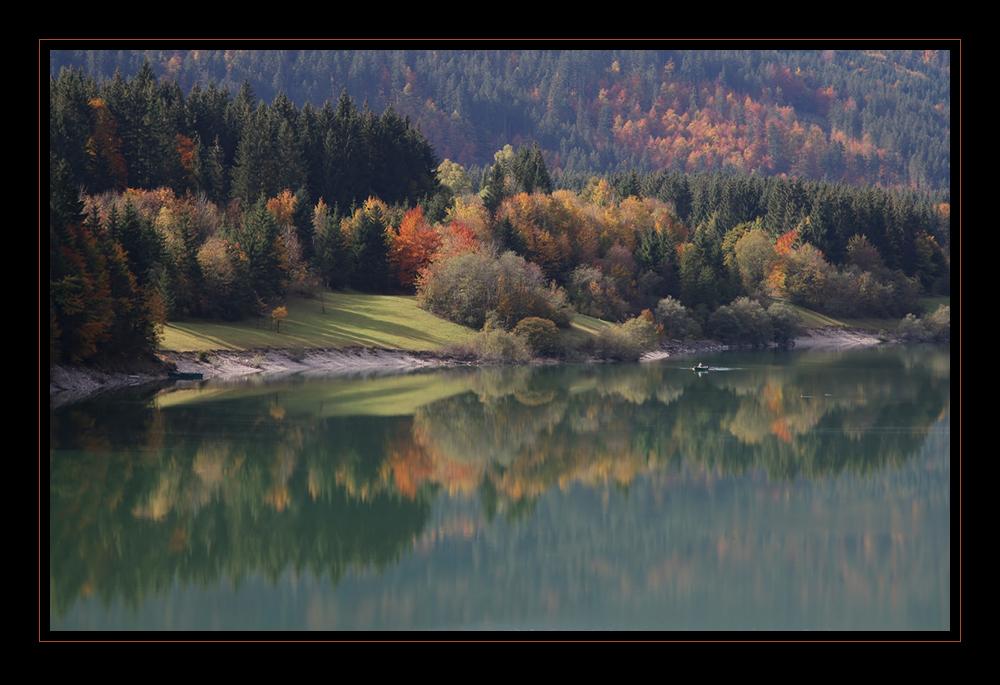 Herbst am Silvensteinstausee