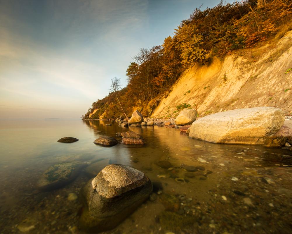 Herbst auf den Klippen von Rügen