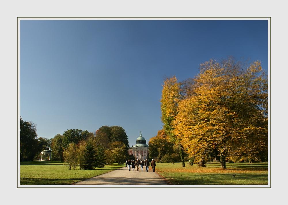Herbst im Park von Sanssouci