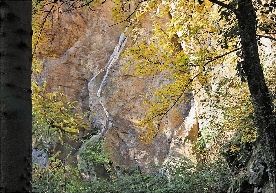 Herbst im Steinbruch