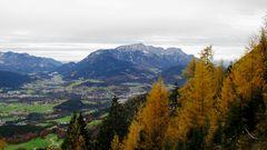 Herbst in Berchtesgaden mit Blick auf den Untersberg