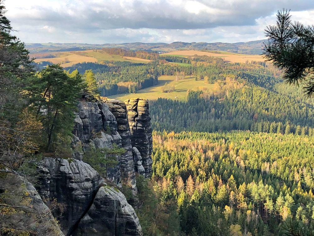 Herbst in den Affensteinen