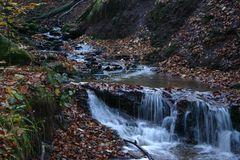 Herbst in der Kaskadenschlucht bei Gersfeld/ Rhön