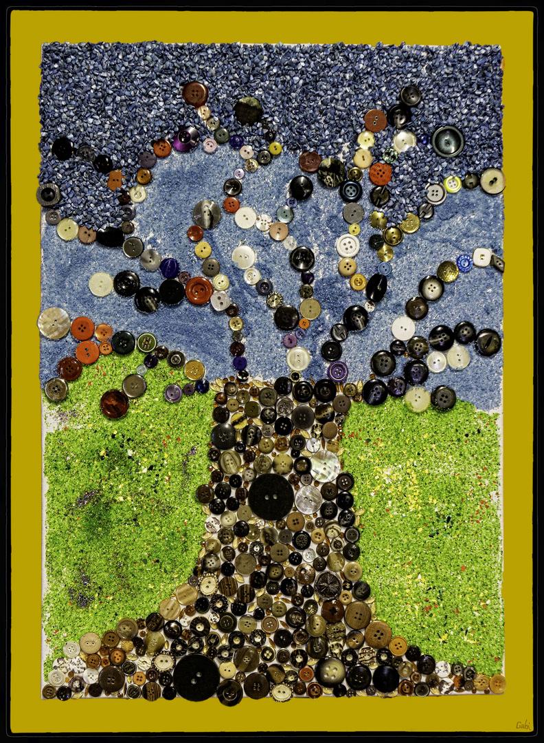 Herbst- Knöpfe- Baum