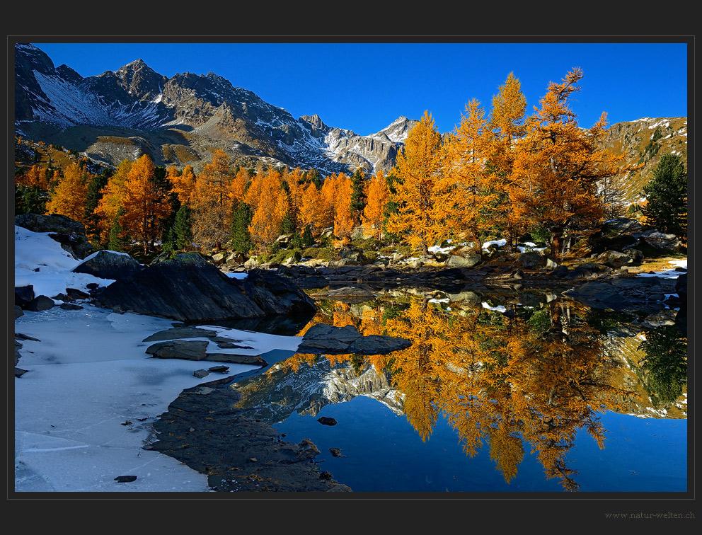 Herbst und Winter Zusammentreffen