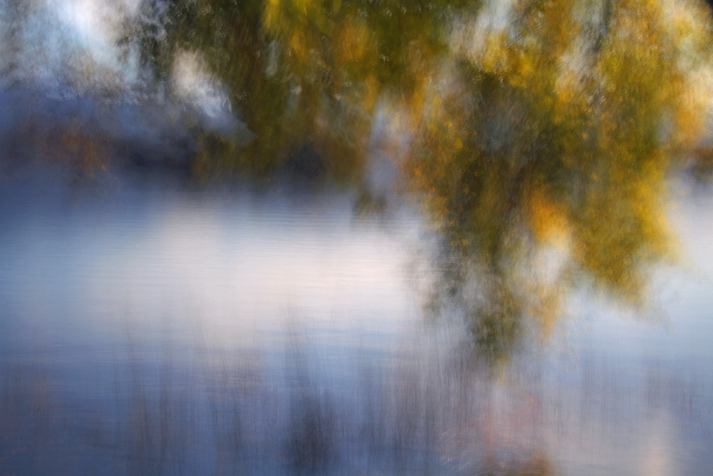 Herbstabend am See