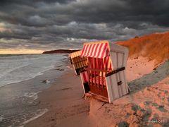 Herbstabend am Strand