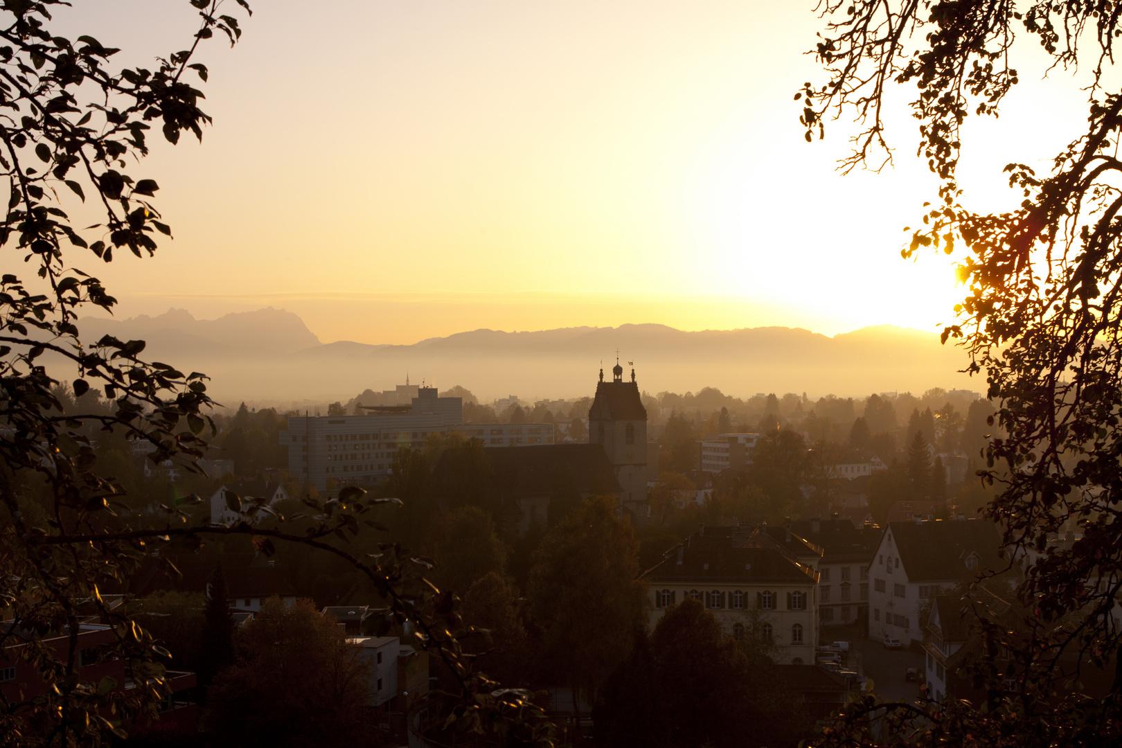 Herbstabend in Bregenz