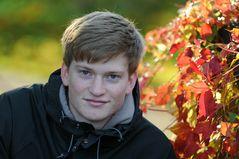 Herbstbild mit Nils