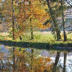 Herbstbild mit Spiegelung