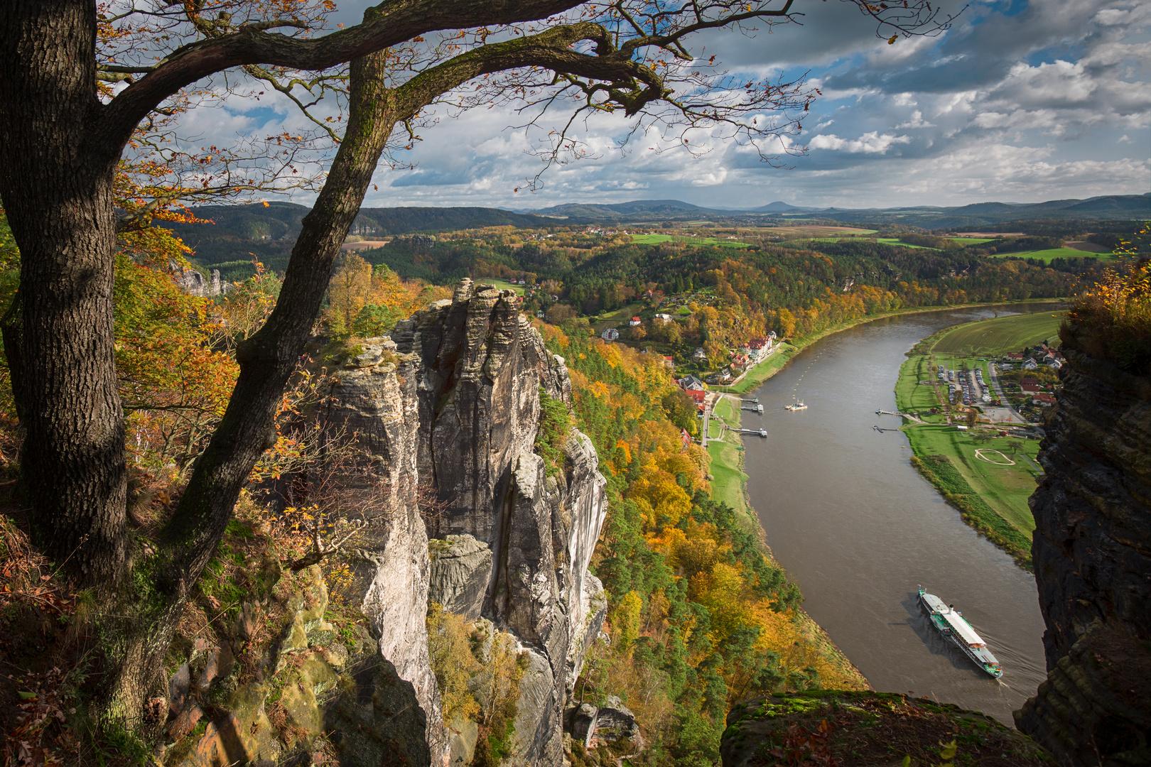 Herbstblick von der Bastei