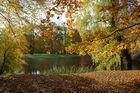 Herbstfärbung im Ludwigsluster Schlosspark am Karauschenteich