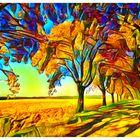 Herbstfarben in der Mehlbeerbaumallee