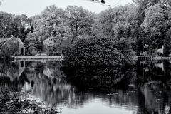 Herbstidylle in monochrom