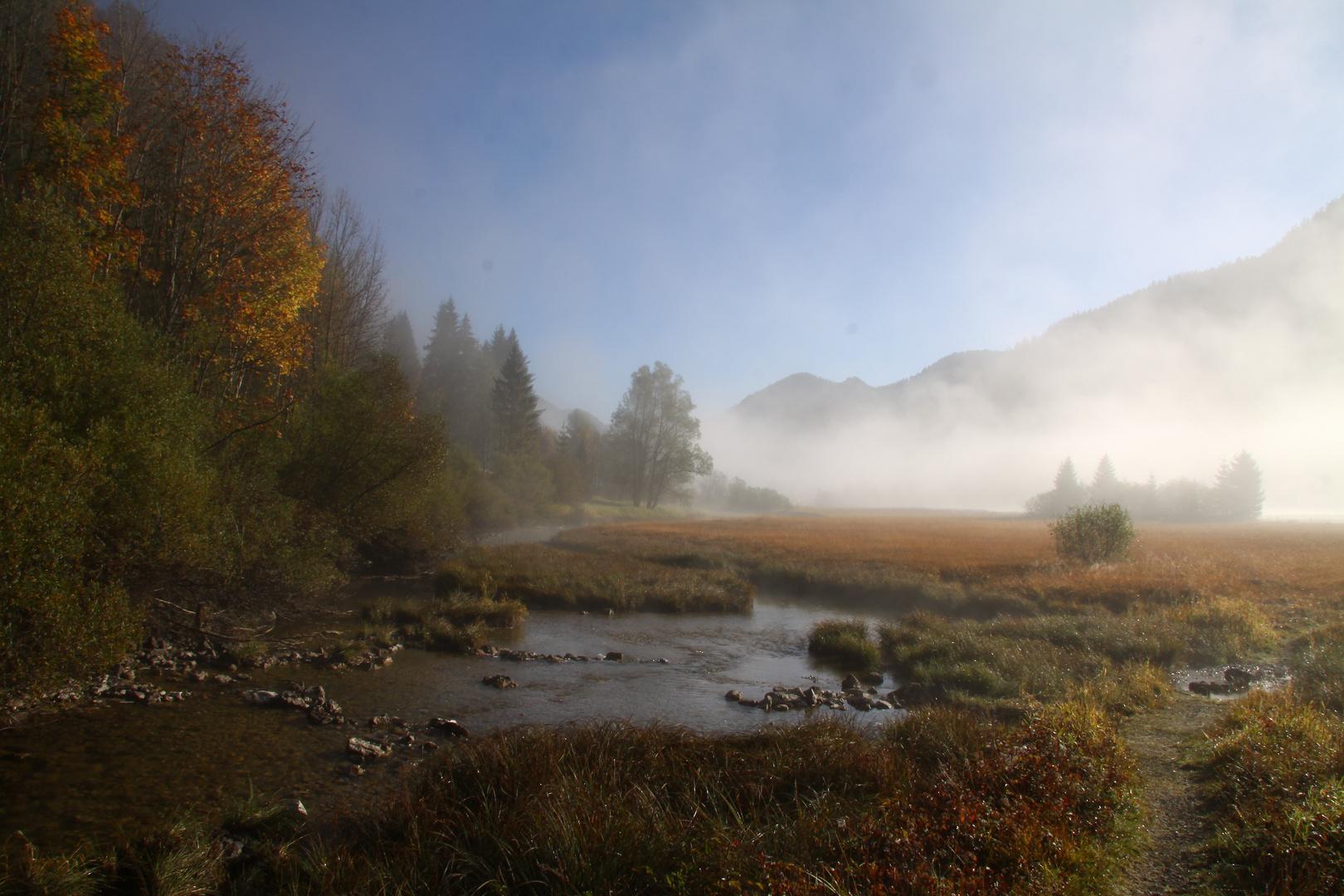 Herbstlandschaft am Weitseeabfluss