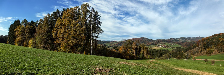 Herbstlandschaft im Norden von Graz bei Greith!