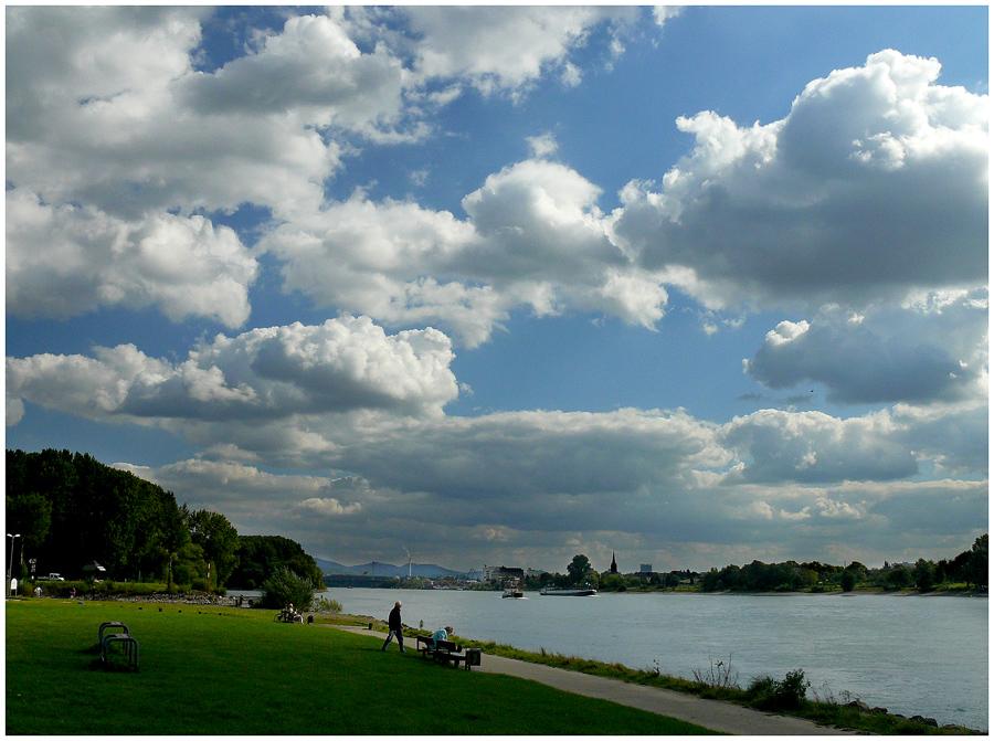 Herbstlandschaft Rhein bei Bonn - Sept 2007