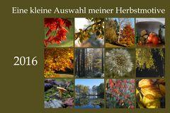 Herbstliche Collage