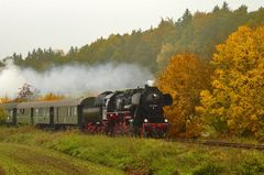 Herbstliche Dampflokfahrt