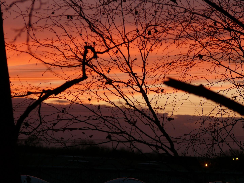 herbstliche himmelsfarben